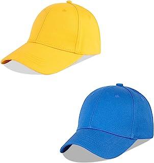 LANGZHEN 100% Cotton Outdoor Children's Kids Plain Baseball Cap Hat Adjustable Sun Hat for Toddler Girls Boys