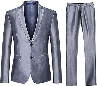 Traje de 3 Piezas para Hombre Trajes para Hombres 2 Botón Elegantes Vestir Blazer Chalecos y Pantalones
