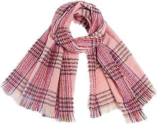 Muranba◕ᴗ◕ Scarf Muffler Shawl Neckerchief Muffle Women's Fashion Long Big Grid Winter Warm Large Wrap Long Scarves