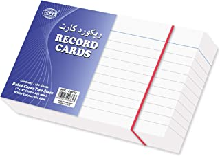 FIS Ruled Record Card White 240 gsm, 5 x 3 inch - FSIC53, Pack of 100 pieces - FSIC53