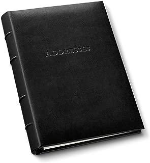 Gallery Leather Desk Address Book Acadia Black