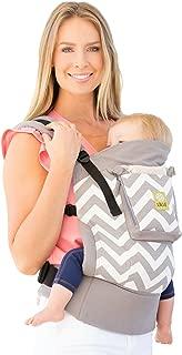 LÍLLÉbaby 4 in 1 Essentials All Seasons Baby Carrier, Grey Chevron