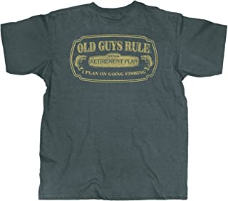 T Shirt for Men | Fishing in Retirement | Dark Heather