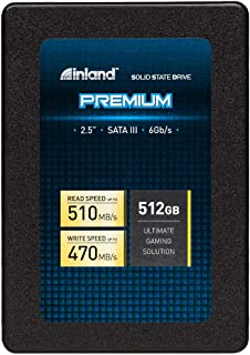 "Inland Premium 512GB SSD 3D QLC NAND SATA 3.0 6GB/s 2.5"" 7mm Internal Solid State Drive (512GB)"