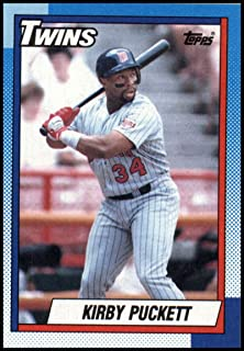 1990 Topps Baseball #700 Kirby Puckett Minnesota Twins Official MLB Trading Card (stock photos used) Near Mint or better condition