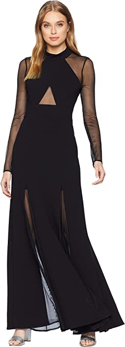 Ellena Long Sleeve Gown with Crisscross