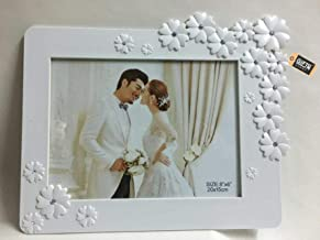 GiftnGlory White Flower Photo Frame 6 x 8 inches  