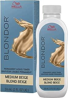 Wella Blonder Permanent Liquid Toner - Medium Beige Blonde Beige 2oz