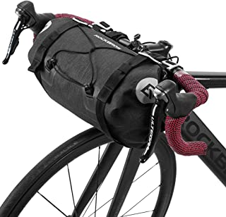 ROCK BROS Bikepacking Bike Handlebar Bag Waterproof Large Dry Pack Bicycle Front Bag Roll for MTB Mountain Road Drop-bar B...