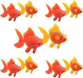 YOOTOP 10Pcs Aquarium Plastic Goldfish Ornament Artificial Fish Decor Fish Tank Decoration