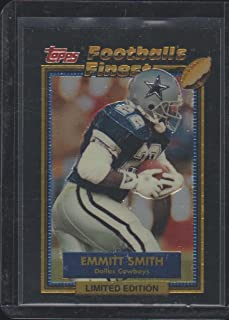 1992 Topps Finest Emmitt Smith Cowboys Limited Edition Football Card #27 of 44