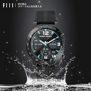 FIIL スマートウォッチ 歩数計 軽量 睡眠検測 電話着信通知 アプリ通知 音楽制御 カメラ遠隔操作 タッチ操作 IP67防水