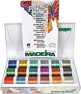 Madeira Klare Box: Polyneon No.40 Mehrfarben: 18 x 200 m: Spulen, Assorted, One Size