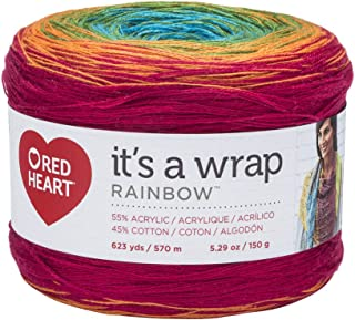 RED HEART Wrap Rainbow, Fiesta Yarn