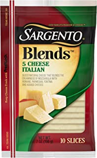 Sargento Blends 5 Cheese Italian Slices, great on hoagies, and paninis, 7 oz Package