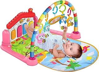 SmallPocket Baby Fitness Juguete Manta De Juego para Beb/é Multifunci/ón Baby Play Mat Ni/ño Gimnasio Piso De Juguete Manta De Arrastre Alfombra con M/úsica Piano Pedal Marco De Fitness Beb/é Juguete