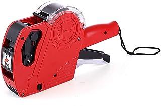 Swift Kit de pistola de precio con 5000 etiquetas y tinta de repuesto M8-22 Rojo