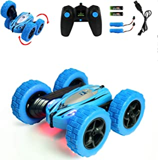 Jellydog Toy Stunt Rc Car, Remote Control Car, 360 Degree Flips Double Sided Rotating Race Car, High Speed Flashing Remote...
