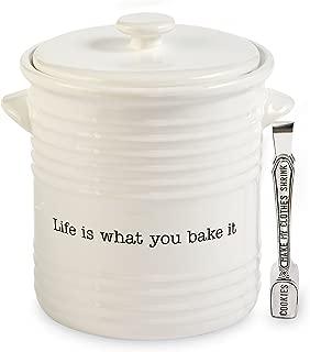 Mud Pie Circa Vintage Inspired Farmhouse Cookie Jar Set