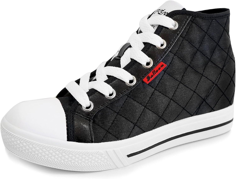 MNX15 Women's Elevator shoes Height Increase 2.7  Balloon Black