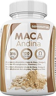 Maca andina negra con Omega 3. L-Arginina Alfa-cetoglutarato. Vitaminas y Zinc. Única Maca con Omega 3