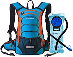 MIRACOL Hydration Backpack with 2L Water Bladder, Thermal Insulation Pack Keeps Liquid Cool up to 4 Hours, Perfect...