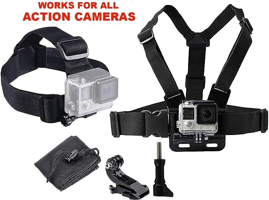 LONDON FAB Arneses para cámaras de acción compatibles con GoPro y Todas Las cámaras de acción