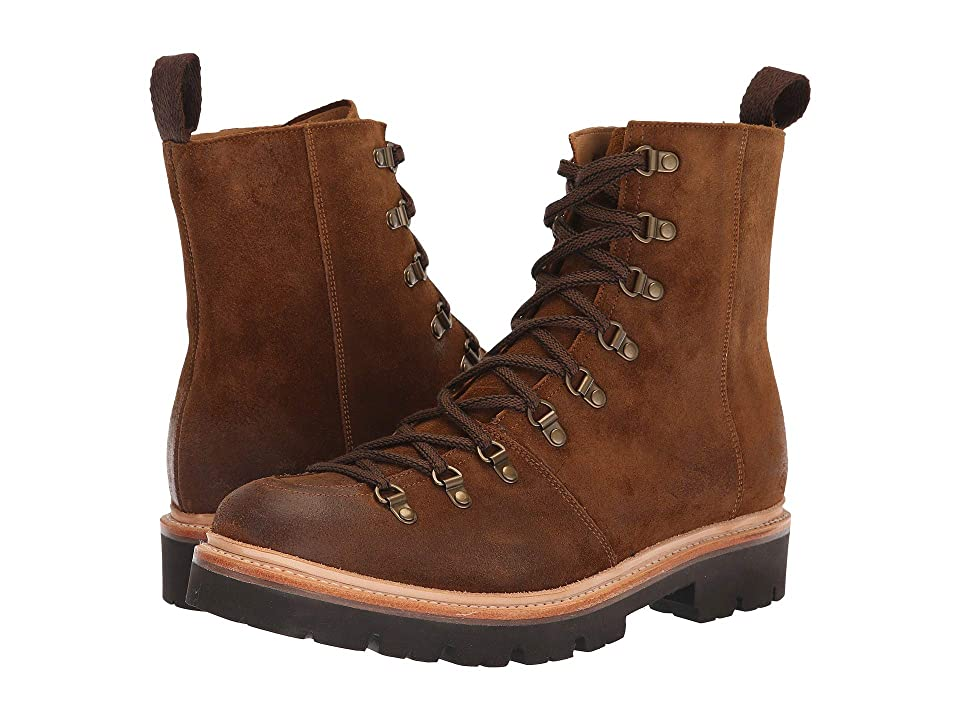 Grenson Brady Laced Mountaineer Boot (Snuff Burnish Suede) Men