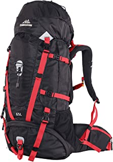 QUICK-UP Hiking Backpack 65L Internal Frame, High-Performance Daypack forOutdoor Camping Traveling, with Rain Cover