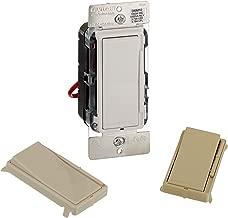 Leviton DSM10-1LZ Decora Universal Dimmer, 450-watt LED and CFL/1000-watt Incandescent/1000VA Magnetic Low Voltage