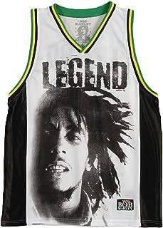 Bob Marley Men's Legend Basketball Jersey White