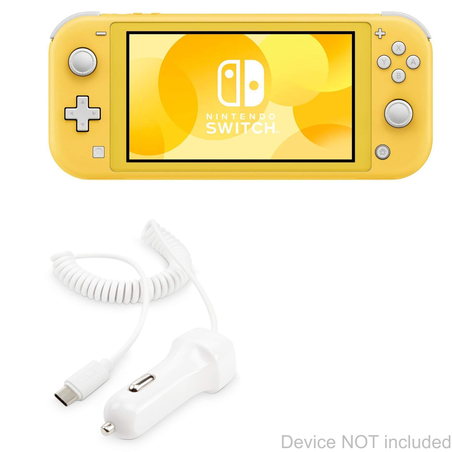 BoxWave - Cargador de Coche para Nintendo Switch Lite, Cargador de Coche y Cable Integrado para Nintendo Switch, Switch Lite, Color Blanco: Amazon.es: Electrónica