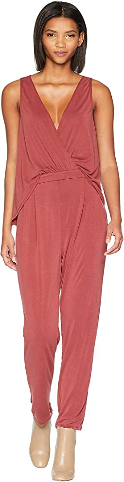Drapey-Back Surplice Jumpsuit