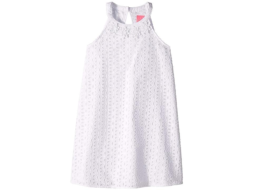 Lilly Pulitzer Kids Mini Pearl Shift (Toddler/Little Kids/Big Kids) (Resort White Oval Flower Petal Eyelet) Girl