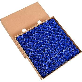 savons parfum/és /à la rose dans une bo/îte cadeau la Saint-Valentin rose pour un mariage TININNA Lot de 81/savons en forme de rose
