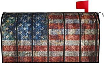 """AuHomea Hout USA Vlag Thuis Tuin Magnetische Postbus Cover Oversized Mail Cover Brief Postdoos 25.5 """"x 21 inch"""