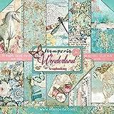 Stamperia SBBL38 - Bloc de papel (10 hojas, doble cara, 30,5 x 30,5 cm), diseño de Wonderland, multicolor