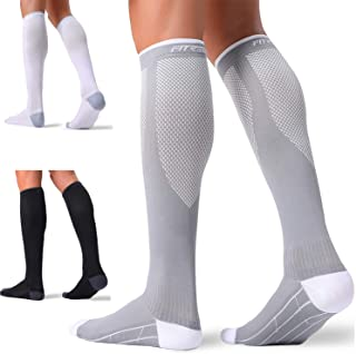 FITRELL 3 Pairs Compression Socks for Women and Men 20-30mmHg-Circulation Support Socks