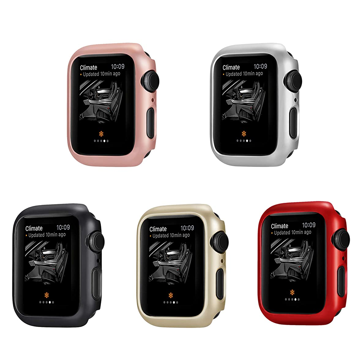 Coobes Compatible with Apple Watch Case Series 4 44mm 40mm, Ultra-Thin Bumper PC Hard Lightweight Shockproof Protector Cover Slim Frame Accessories Compatible iWatch (44mm)