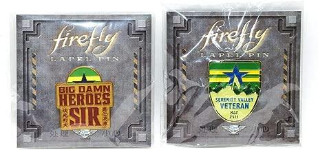 Loot Crate Set of 2 Firefly Big Damn Heroes Sir and Serenity Valley Veteran Lapel Pins May 2511