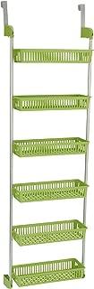Household Essentials 6-Tier Basket Over-The-Door Organizer, Lime