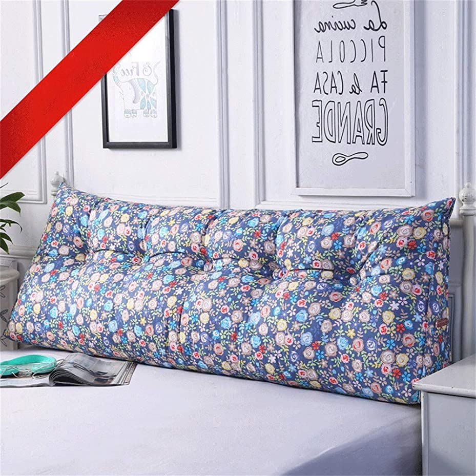 鈍いティッシュリーンGLP ベッドクッショントライアングルラージバックソフトケースピローウエストピロー洗えるベッドサイドダブルベッドルーム枕漫画、19色&7サイズ (Color : S, Size : 120X50X20cm)