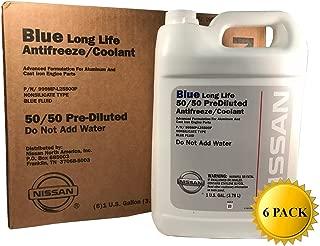 Nissan Genuine OEM Blue Long Life Antifreeze/Coolant 999MP-L25500P (Case of 6)