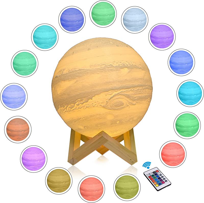 CPLA Seamless Jupiter Lamp 7 1inch 16colors With Remote Touch Control In Moon Lamp Box