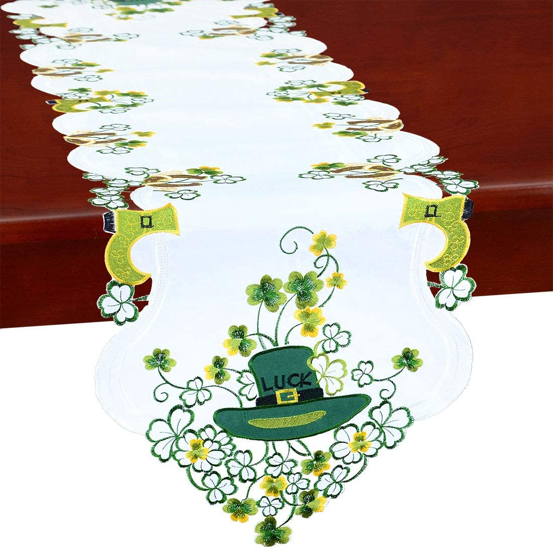 Price reduction Simhomsen Irish Clover Table Max 71% OFF Runners St. Patrick's for Day