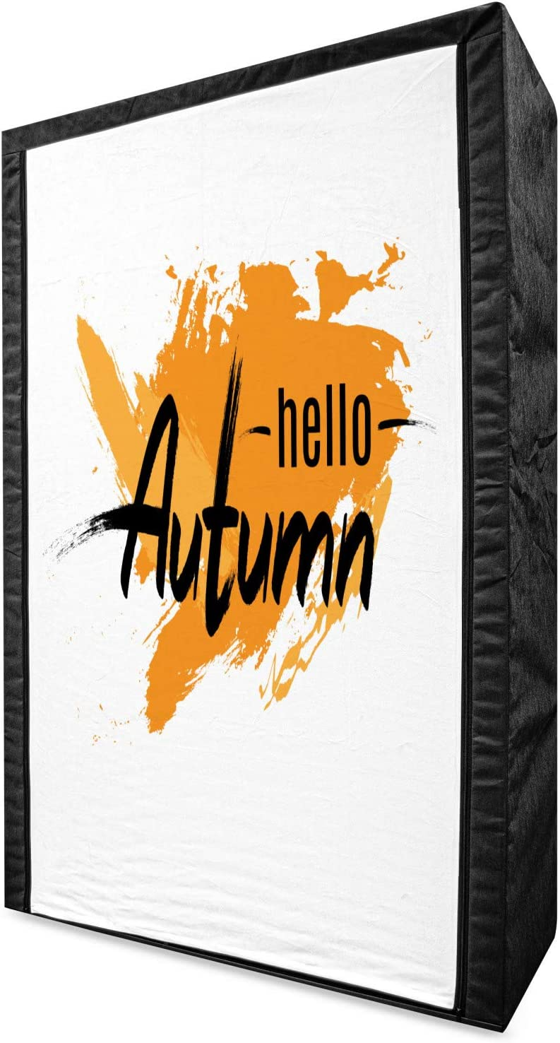 Ambesonne online shop Hello Free shipping Fall Portable Fabric M Wardrobe Autumn Greeting