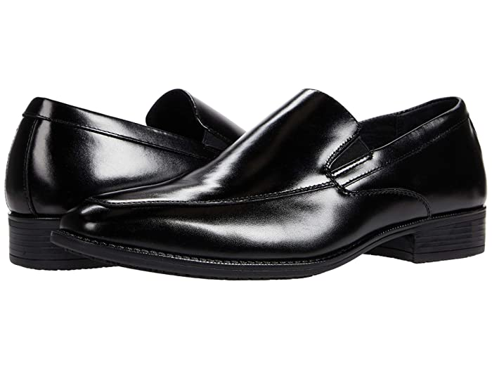 1950s Mens Shoes: Saddle Shoes, Boots, Greaser, Rockabilly Stacy Adams Aldrich Slip-On Loafer Black Mens Shoes $74.95 AT vintagedancer.com