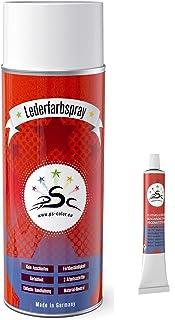 Set 2 : 400ml Lederfarbe Spray & PSC Flüssigleder 8gr Tube passend für Mercedes Oriongrau   zum färben und Restaurieren von Ledersitzen, Lederschuhen & Anderen Lederartikeln