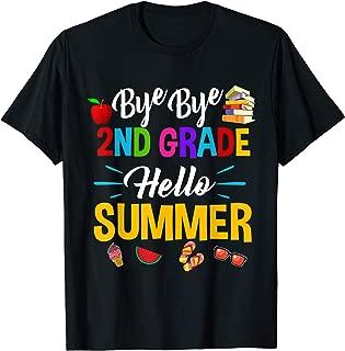 Straight Outta 2nd Grade Hello Summer Time Graduate T-shirt