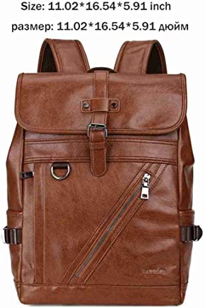 e88f7de0a0ce UKXMNC Leather Men Multifunction Bag Large Capacity Student Backpack Casual  Travel Daypack Men Laptop Backpack